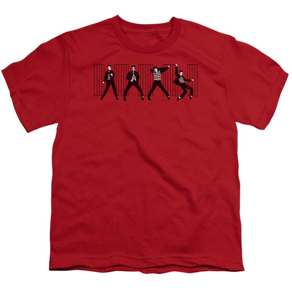 Elvis/Jailhouse Rock Short Sleeve Youth 18/1 in Red