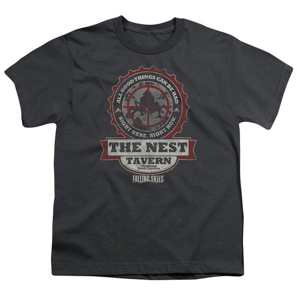 Falling Skies/The Next Short Sleeve Youth 18/1 Charcoal