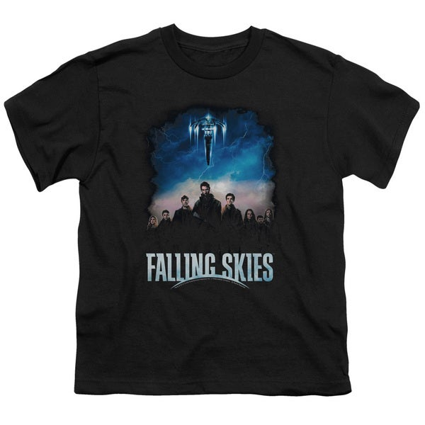 Falling Skies/Main Players Short Sleeve Youth 18/1 Black