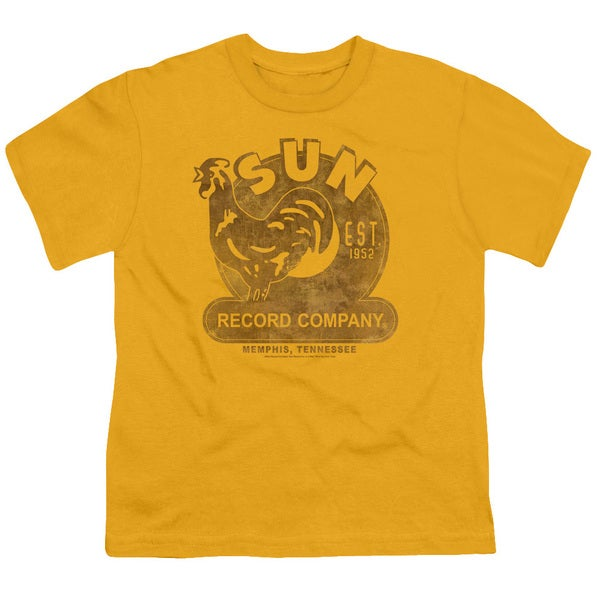 Sun/Sun Record Short Sleeve Youth 18/1 in Gold