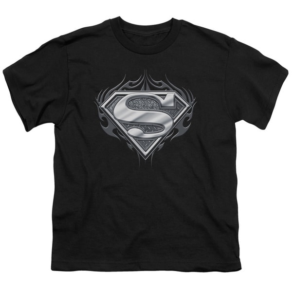 Superman/Biker Metal Short Sleeve Youth 18/1 in Black