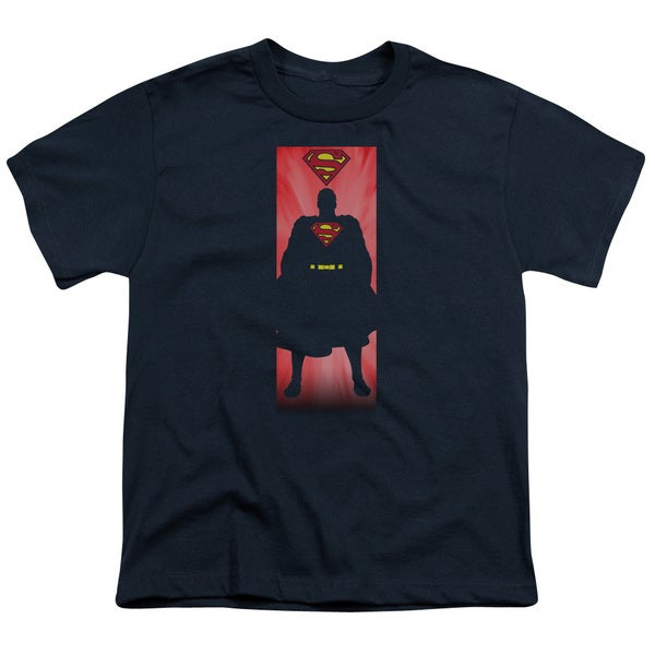 Superman/Block Short Sleeve Youth 18/1 in Navy