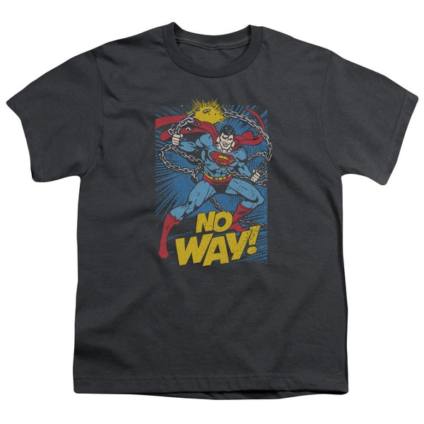 DC/No Way Short Sleeve Youth 18/1 in Charcoal