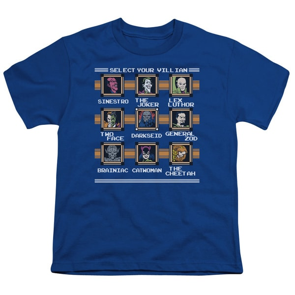 DC/Stage Select Short Sleeve Youth 18/1 in Royal