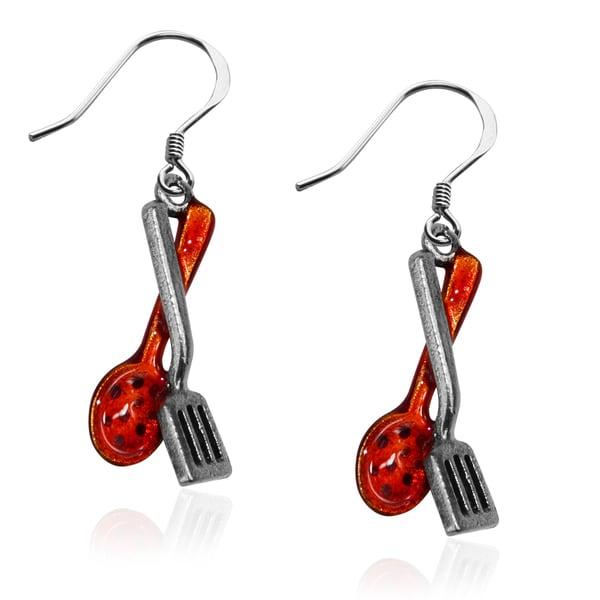 Cooking Utensils Charm Earrings in Silver