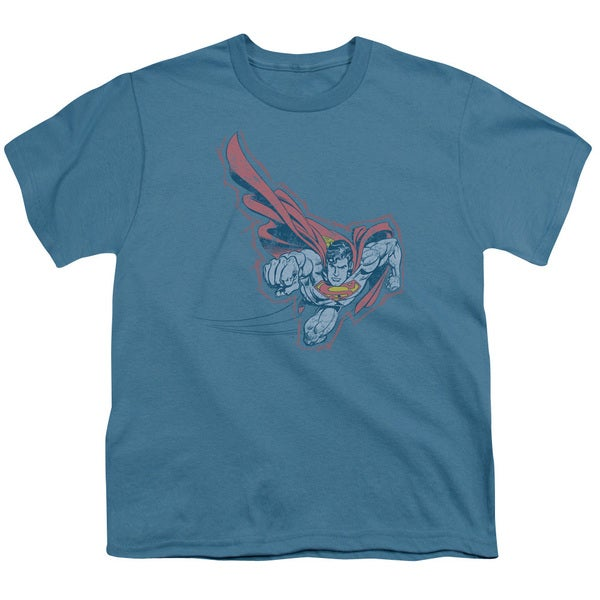 Superman/Scribble & Soar Short Sleeve Youth 18/1 in Slate