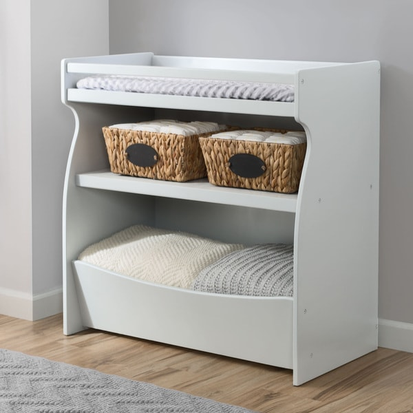 Delta Children 2-in-1 Changing Table & Storage Unit, Bianca