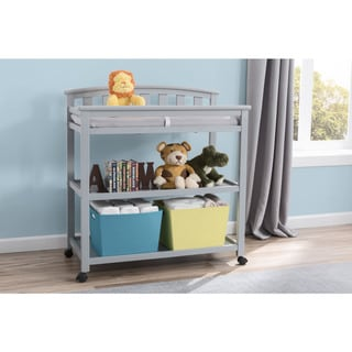 Delta Children Freedom Changing Table with Casters, Grey