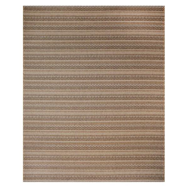 Machine Woven Jennings Chestnut/ Black Polypropylene Rug (7'10x10')
