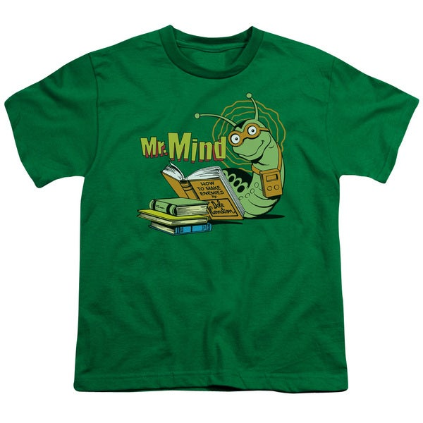 DC/Mr Mind Short Sleeve Youth 18/1 Kelly Green