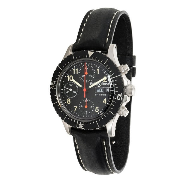 Pre-Owned Bell & Ross Military M2 Chronograph 256-1138 Mens Watch in Stainless Steel