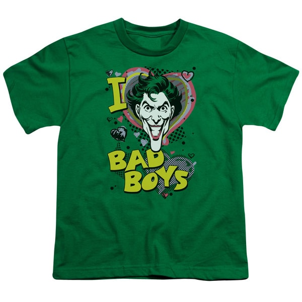 DC/I Heart Bad Boys 2 Short Sleeve Youth 18/1 in Kelly Green
