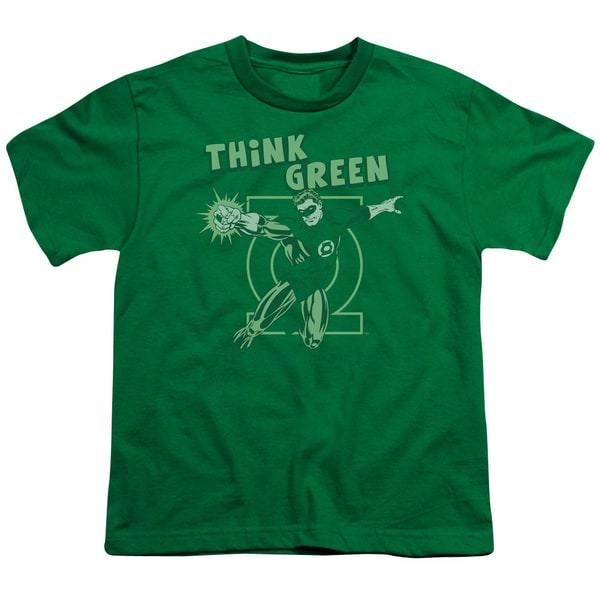 DC/Think Green Short Sleeve Youth 18/1 Kelly Green