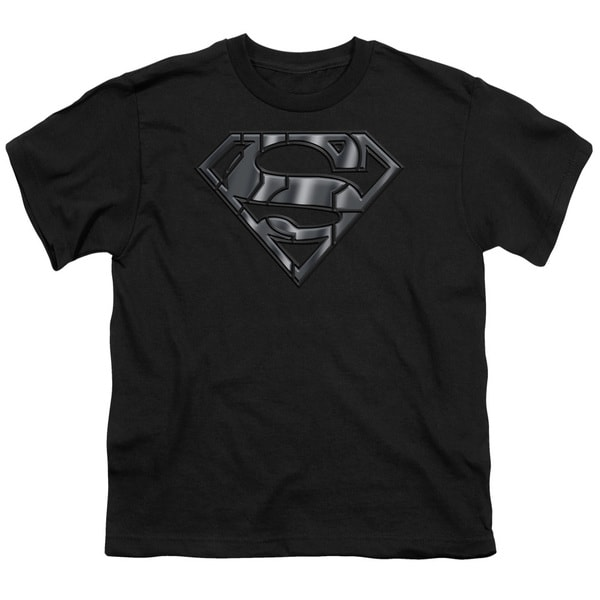 Superman/Mech Shield Short Sleeve Youth 18/1 in Black