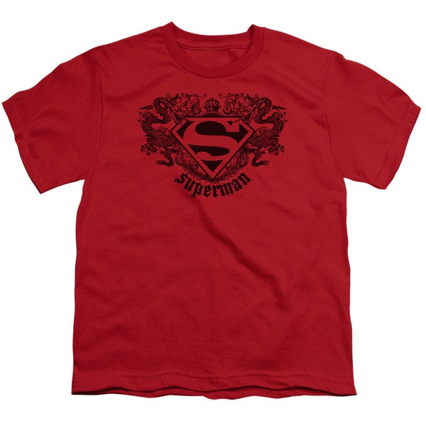 Superman/Superman Dragon Short Sleeve Youth 18/1 in Red
