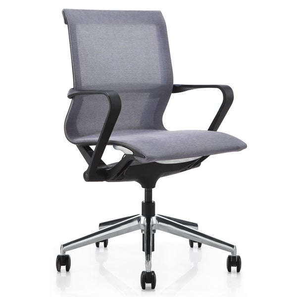 M1 Black and Grey Mesh Mid-back Executive Office Chair