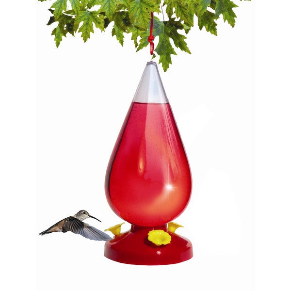 Perky Pet 273 32 Oz Red Dew Drop Hummingbird Feeder