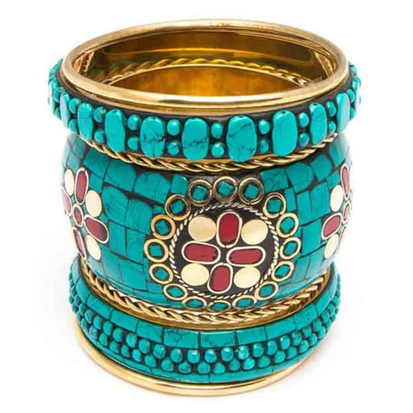'Sadia' Mosaic Bangle Set (India)
