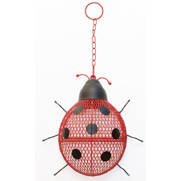 "Perky Pet 6"" NO/NO Ladybug Mesh Wild Bird Feeder"