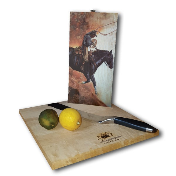 WGI Gallery Hell Bent For Leather Wood Cutting Board