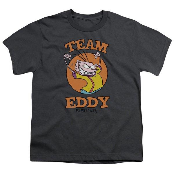 Ed Edd N Eddy/Team Eddy Short Sleeve Youth 18/1 in Charcoal