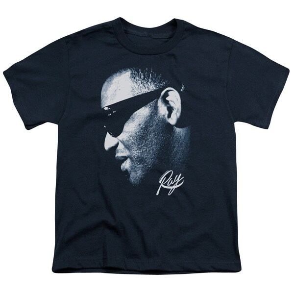 Ray Charles/Blue Ray Short Sleeve Youth 18/1 in Navy 21132770