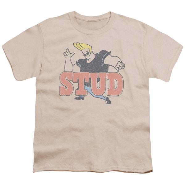 Johnny Bravo/Stud Short Sleeve Youth 18/1 in Cream