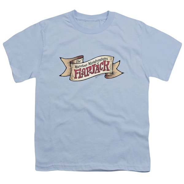Flapjack/Flapjack Logo Short Sleeve Youth 18/1 in Light Blue