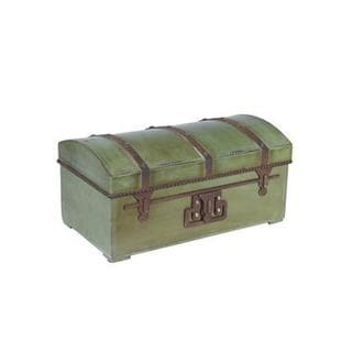 Green Metal Small Vintage Storage Chest