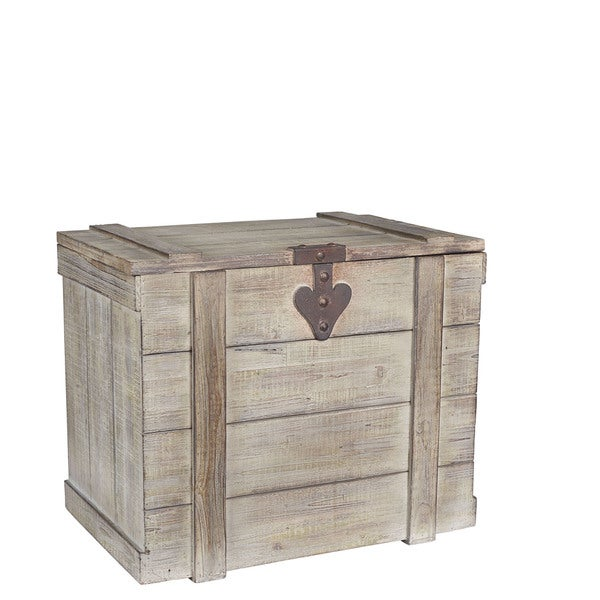 Antique-grey Wood Large Home Chest