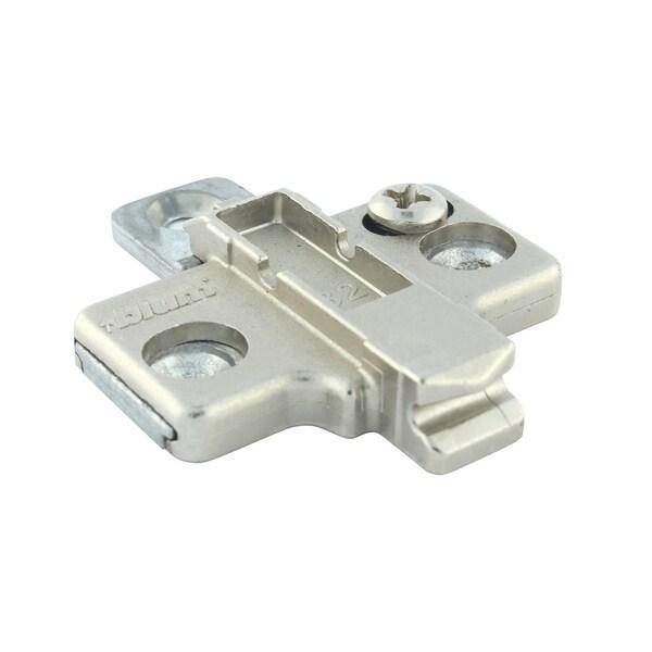 Rok Hardware Silvertone Metal Die-cast Mounting Plate (10 Pack)