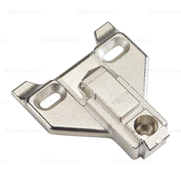 Rok Hardware 3-millimeter Blum Clip Face Frame Off Center Mounting Plate (Pack of 10)