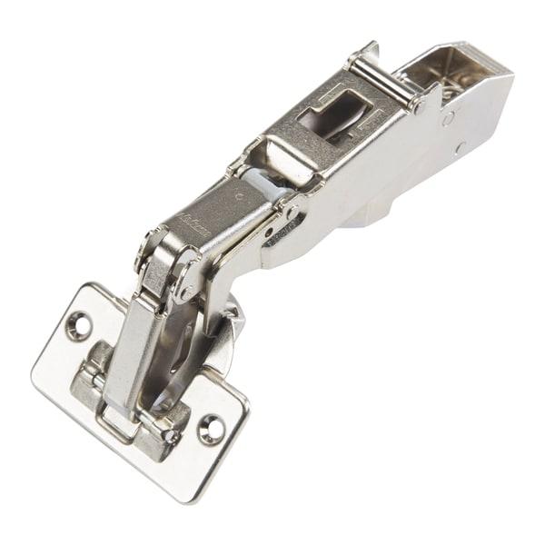 Blum Silver Finish Metal 170-degree Clip Top Full Overlay Screw-on Self-closing Cabinet Hinge