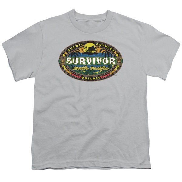 Survivor/South Pacific Short Sleeve Youth 18/1 in Silver