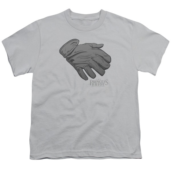 Princess Bride/Six Fingered Glove Short Sleeve Youth 18/1 Silver