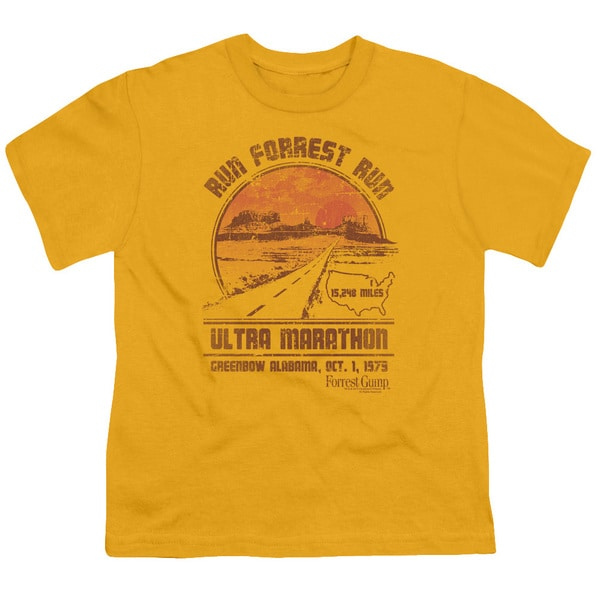 Forrest Gump/Ultra Marathon Short Sleeve Youth 18/1 in Gold