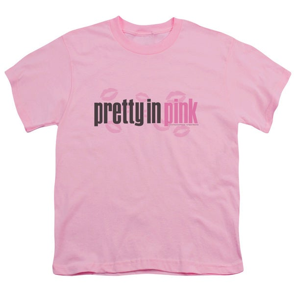 Pretty in Pink/Logo Short Sleeve Youth 18/1 Pink