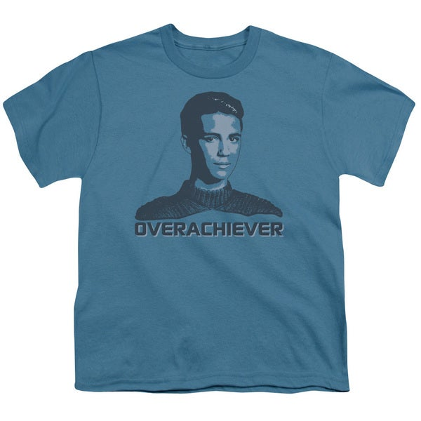 Star Trek/Overachiever Short Sleeve Youth 18/1 in Slate