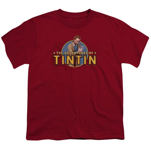 Tintin/Looking For Clues Short Sleeve Youth 18/1 Cardinal
