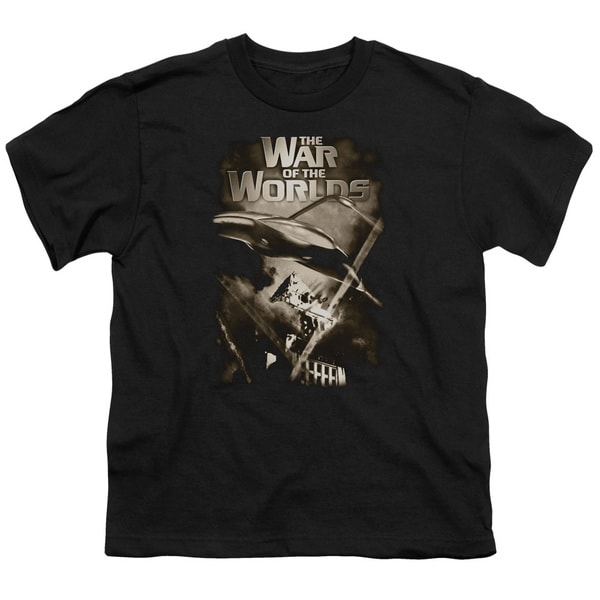 War Of The Worlds/Death Rays Short Sleeve Youth 18/1 in Black