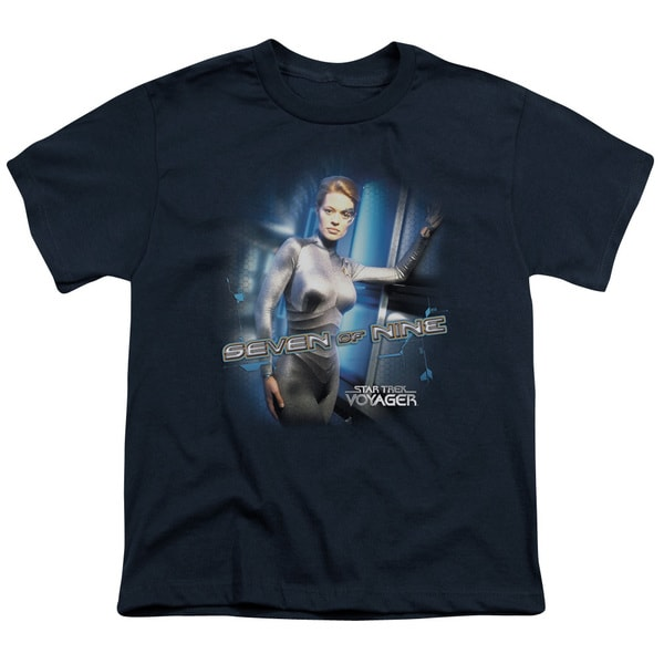 Star Trek/Seven Of Nine Short Sleeve Youth 18/1 Navy