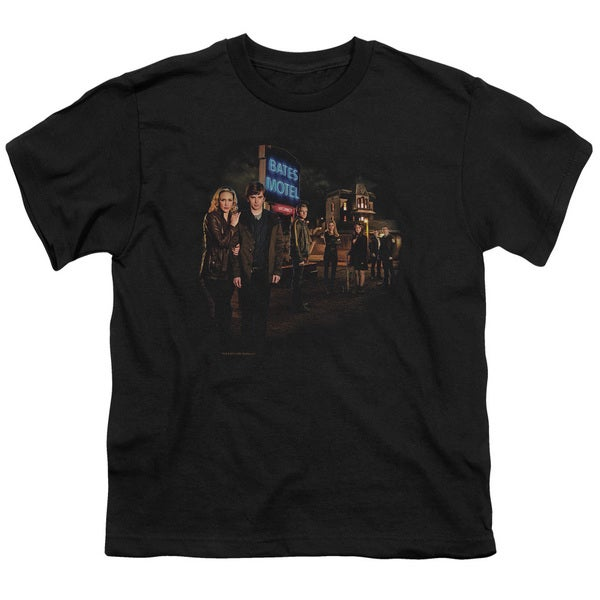Bates Motel/Cast Short Sleeve Youth 18/1 in Black