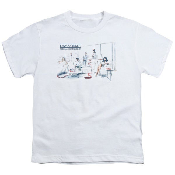 Law & Order SVU/Dominos Short Sleeve Youth 18/1 White