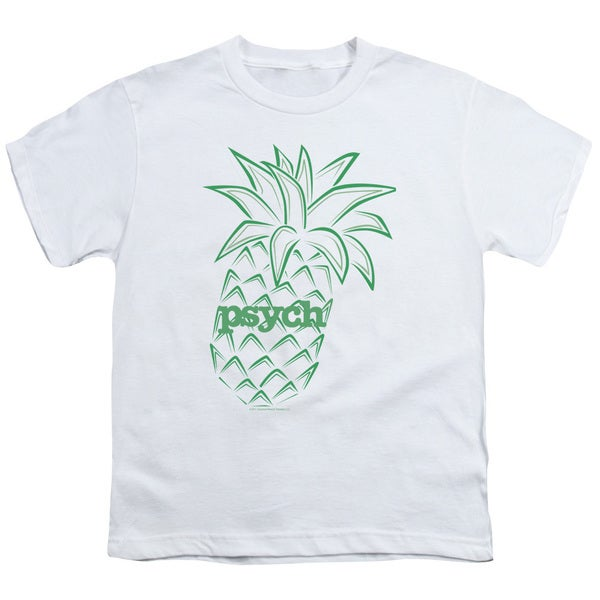 Psych/Pineapple Short Sleeve Youth 18/1 White