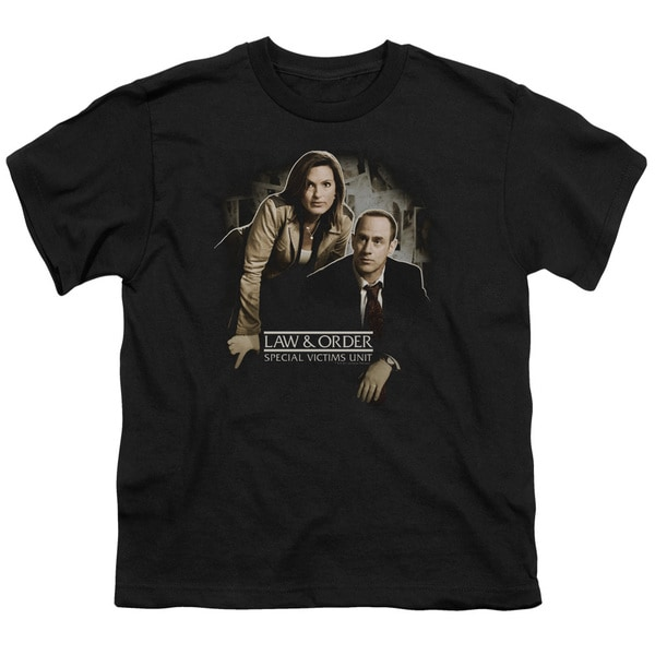 Law&Order:SVU/Helping Victims Short Sleeve Youth 18/1 Black