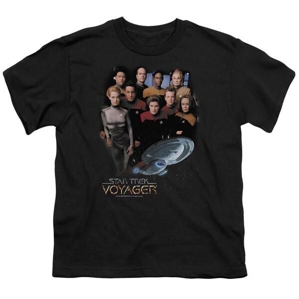 Star Trek/Voyager Crew Short Sleeve Youth 18/1 in Black
