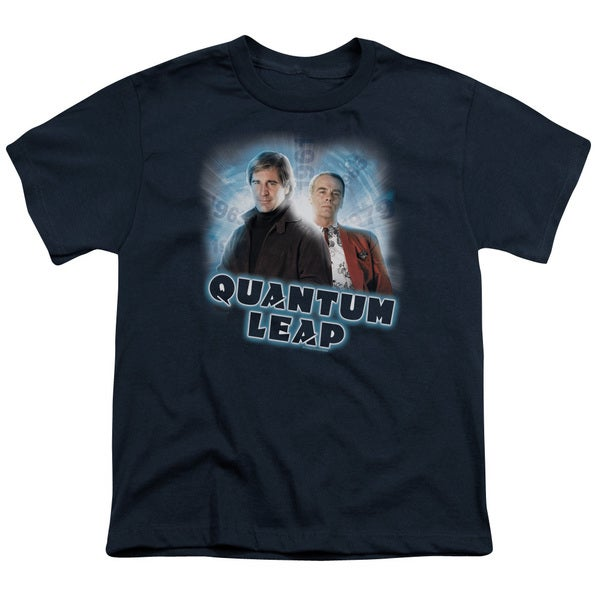 Quantum Leap/Sam & Al Short Sleeve Youth 18/1 in Navy
