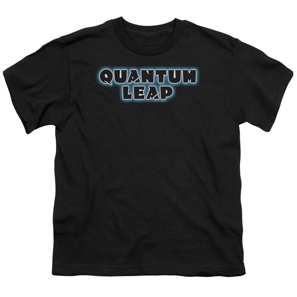 Quantum Leap/Logo Short Sleeve Youth 18/1 in Black