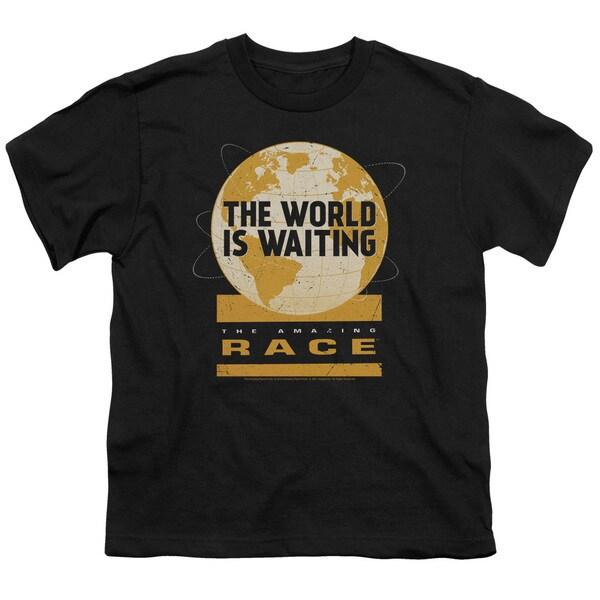 Amazing Race/Waiting World Short Sleeve Youth 18/1 Black