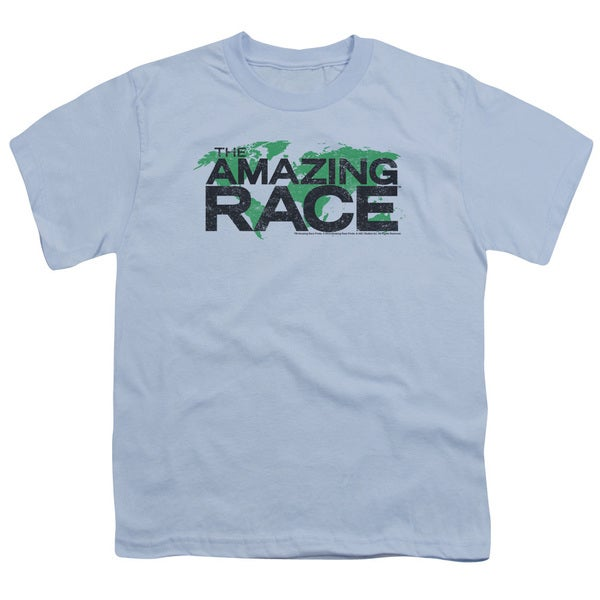 Amazing Race/Race World Short Sleeve Youth 18/1 Light Blue